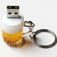 very nice 4GB 8GB 16GB 32GB beer mug glass cup drinking design USB 2.0 flash memory Pen drive