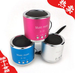 Portable mini speaker / usb flash drive mp3 player / card small audio band FM / computer / phone / outdoor music / party(China (Mainland))