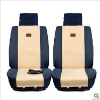 Warm winter carbon fiber car  heated seat cushion with cigarette lighter. one set can heat two seats