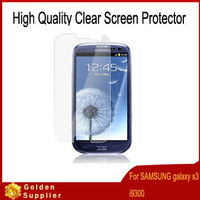 By FedEx Free Shipping 500pcs/lot Clear Screen Protector Guard Protective film For SAMSUNG Galaxy S3 i9300 with retail package