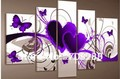 5pcs/ set red love purple heart Butterfly POP Modern HOME decoration wall art oil painting on canvas oil paintings Discount C01