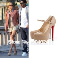 Hot selling Plue size pumps 2013 New style Women high-heeled platform pumps shoes mary jean wedding shoes nude and balck