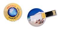 Free Shipping 30pcs/lot Round Card USB Memory Disk