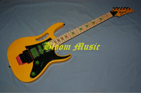 IBZ rare color flyod rose tremolo yellow  Electric Guitar Free Shipping Bloom Music