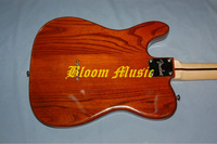 Telecaster wood grain red electric guitar white pickguard free shipping Bloom Music