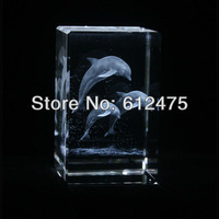 New&hot selling!crystal animal gift,3D laser Crystal animal home decor,promotion Crystal dolphin image paperweight,new year gift