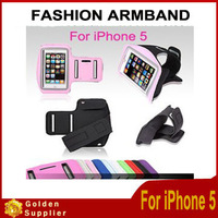 Fast Free Shipping 20pcs Solf elastic Belt Armband Sport GYM Running Waterproof Sweatproof Armband Case Cover For iphone 5 5G