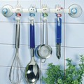 Suction wall four linked hooks rabbit for Kitchen high quality 2pcs/lot free shipping#J065(China (Mainland))