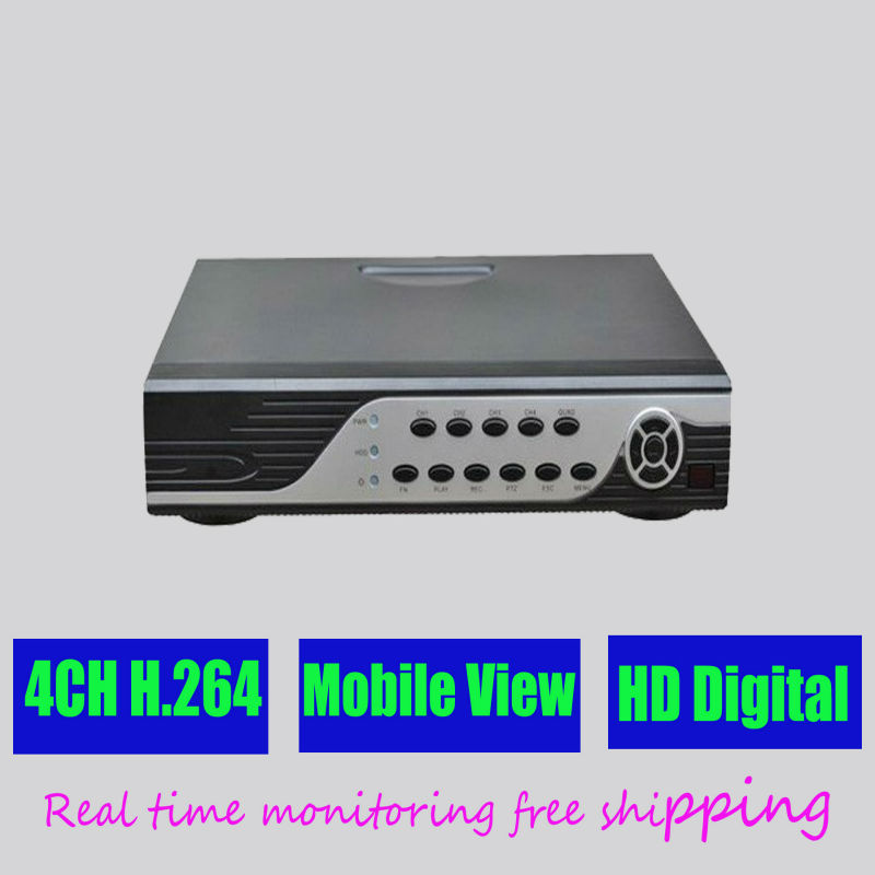 Free shipping4CH channel CCTV DVR HD digital video recorder security surveillance real time monitoring camera system installMJ31(China (Mainland))