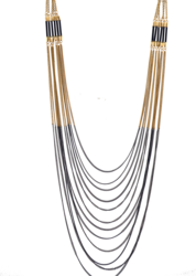 New arrival fashion long layered chain necklace multi strand necklace 26in handmade statement necklace costume necklace jewelry(China (Mainland))