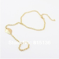 Free shipping Accessories Retro Vintage Cool Punk Rock Golden Alloy Leaf Bracelet,LOWEST WHOLDSALE 50pcs/lot ($0.78/pc)