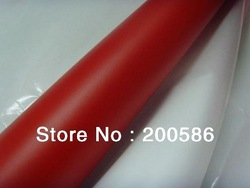 Car Body Sticker Matte Red Car Wrap Vinyl Film Bubble Free Self-Adhesive Sheet Free Shipping mrv30m(China (Mainland))