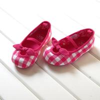 Rose plaid princess baby rubber soled shoes boy shoes s2