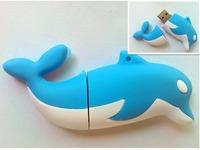 Cartoon alien model USB 2.0 Enough Memory Stick Cute cartoon creative dolphins 16G 32G 64G 128G P30