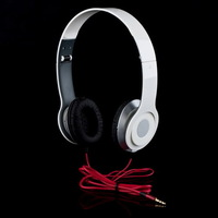 Red  On Ear Earphone Headphone 3.5mm for iPod MP3 MP4 Phone NEW