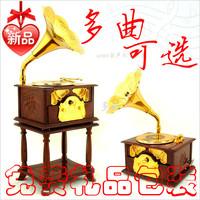 Retro Gramophone Music Box for  birthday gift day good gift