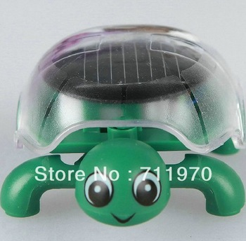 Free Shipping Environmental Gadget Crawling Solar Educational Toy Solar Mini Tortoise Patented Design,Cute,Fashion,No Battery