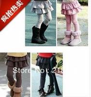 Girls' Leggings & Tights with Skirts Children's Skirt-pants Girl's pants 5pcs/lot free shipping!