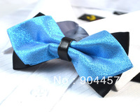 Mens Pre-Tied Adjustable Bow Ties Black With Lavender Weave Double Sided Diamond Tip Patterned Bowties Free Shipping 10 pcs
