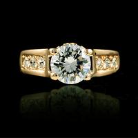 $10 free shippings  carat 18k gold  zircon ring ITALINA