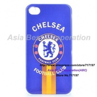 HOTTING SALES,FREE SHIPPING,Cool FC Football Club Logo Protective Back Case for iPhone 4 / 4S