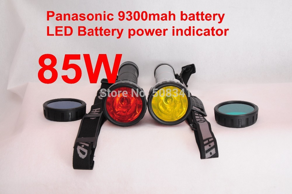 Updated Version! Wholesale Super bright 85W Three power HID flashlight /HID Spotlight light(China (Mainland))