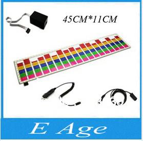 2013 45CM*11CM Car Stickers Equalizer Glow Flash Panel Multi Color Light Flashing Accessories12DC Sound Music Activated EL Sheet(China (Mainland))