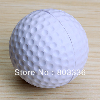 Free Shipping PU Golf Ball Golf Training Soft Foam Balls Practice Ball - White