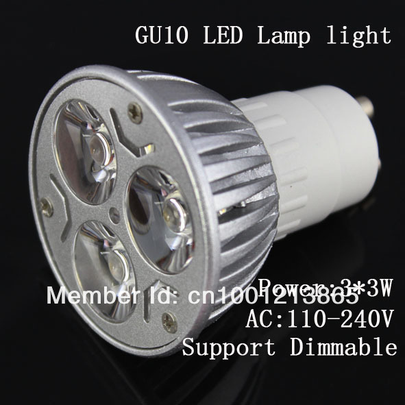 High Lumen 3*3W GU5.3 MR16 GU10 E27 led spot light manufacturer(China (Mainland))