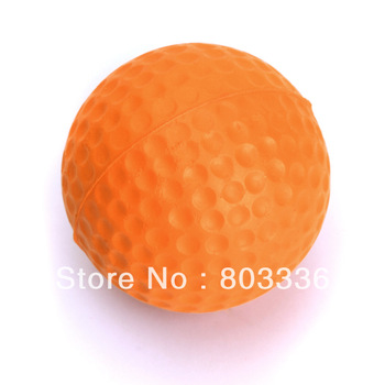 Free Shipping PU Golf Ball Golf Training Soft Foam Balls Practice Ball - orange