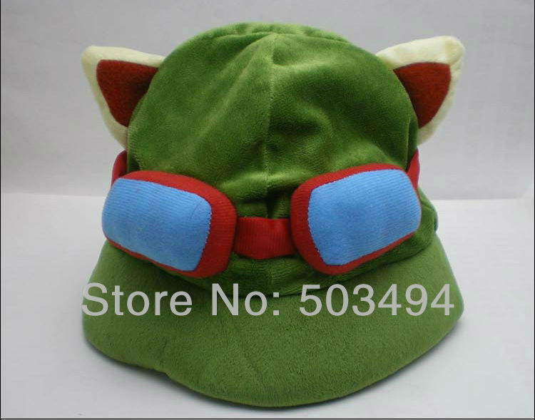 EMS Free shipping 30/LOT League of Legends LOL Teemo Cosplay Cute HAT Cap NEW LOL Hats(China (Mainland))