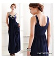 Free shipping C4 2013 royal luxury paillette interspersion big u long design dress formal dress