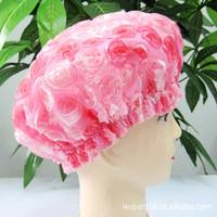 free shipping Double layer thickening waterproof child adult shower cap shower cap shampoo cap nursing cap