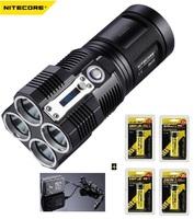 Free Shipping NITECORE TM26 Tiny Monster 4X Cree XM-L U2 LED 4000 lumens  Flashlight +4 Pcs Nitecore 18650 Li Battery + charger