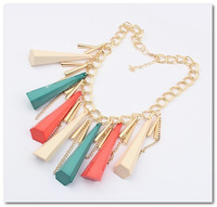 Fashion Europe Exaggerated tassel cone necklace wholesale Free shipping