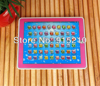 Retail and Free Shipping Newl 3D Y Pad  English Tablet Touch Educational  toy for kids,Pink&Blue Mixed,YPad with music and Light