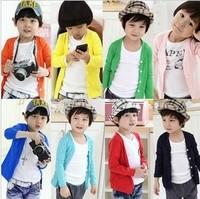 Children's clothing classic child long-sleeve cardigan long-sleeve T-shirt basic shirt chromophous 40c-4009 (CC010N003)