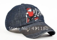 2012 fashion junior cap washed denim casual hat free shipping 1 pc/lot
