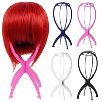 Folding Stable Collapsible Wig Hair Hat Cap Stand Holder Display Tool Plastic