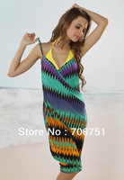 Free shipping 2013 Fashion Style 90%Polyester 10%Spandex Bikini dress Holiday beach skirt casual dress 10pcs/lot