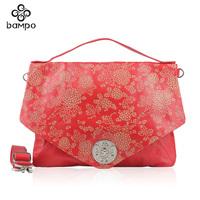 Handbags genuine leather high quality women's handbag national trend fashion multi-purpose female messenger bag