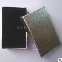 Newest  Fashion  Cufflinks Box ! Wholesale 48pcs/Lot Silver Jewelry Box Necklace/Earrings/Ring Box Gift Box Free Shipping