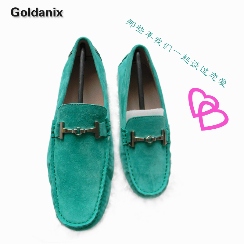 Free shipping Handmade customize lovers gommini loafers gommini loafers genuine leather sheep leather gommini loafers lovers(China (Mainland))