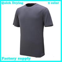 Dropshipping 2015 summer new polular Quick Drying Casual short sleeve Tee Shirt Slim Fit Tops cycling Sport Shirt men's t-shirt