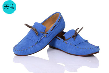 Free shipping hot sell sell like hot cakes new man leather casual shoes sailing boat shoes loon slip-on shoes