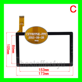 7inch Capacitive Touch Screen for 7inch Allwinner A13 Q88 code CZY6075A-FPC CZY6075E-FPC  free shipping with tracking