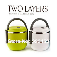 Double Layer Stainless Steel Children Vacuum Thermal Lunch Box 1.4L Keep Warm Food Container For Kids