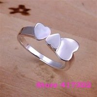 R132 SIZE 8# Three Pingxin Ring 925 silver ring Fashion jewelry wedding rings /kiua tada