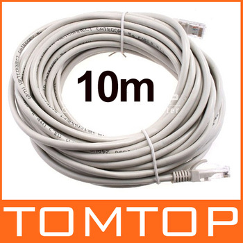 2014 Hot Sale 10m RJ45 Ethernet Network Patch Cable Cord Top Quality Tomtop Free / Drop Shipping Wholesale