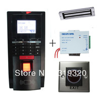 ID card and fingerprint access control, power supply, magnetic lock, infrared exit button access control system